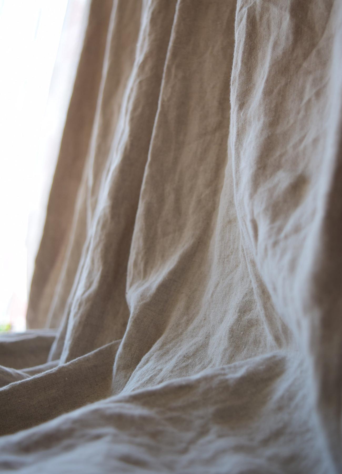 自然素材のカーテン④