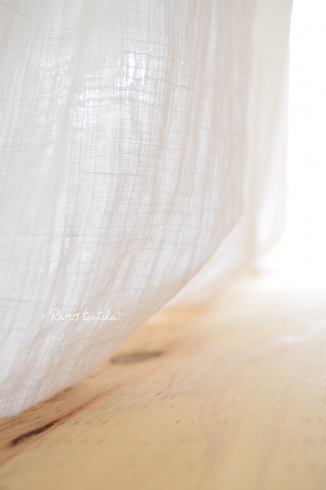 自然素材のカーテン リノコトン