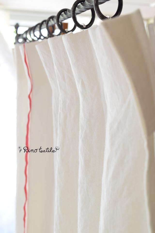 天然素材カーテン リノルージュホワイト